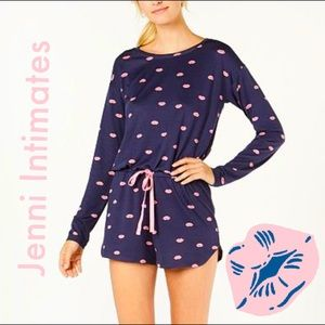 🌸 SALE Lips Sleepwear Romper by Jenni Intimates